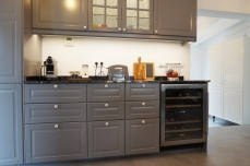 Breakfast bar, wine cabinet, Nespresso coffee maker