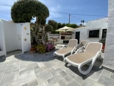 Four sun loungers