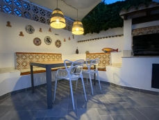 Dining area in the evening